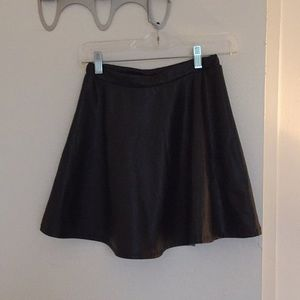 Tobi High Waisted Pleather Skirt